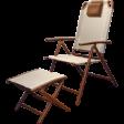 Кресло регулируемое складное с табуретом-подставкой для ног Forester GS-1012