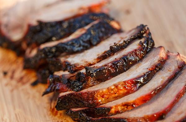 Рецепт томленой свинины в горчично-медовой глазури