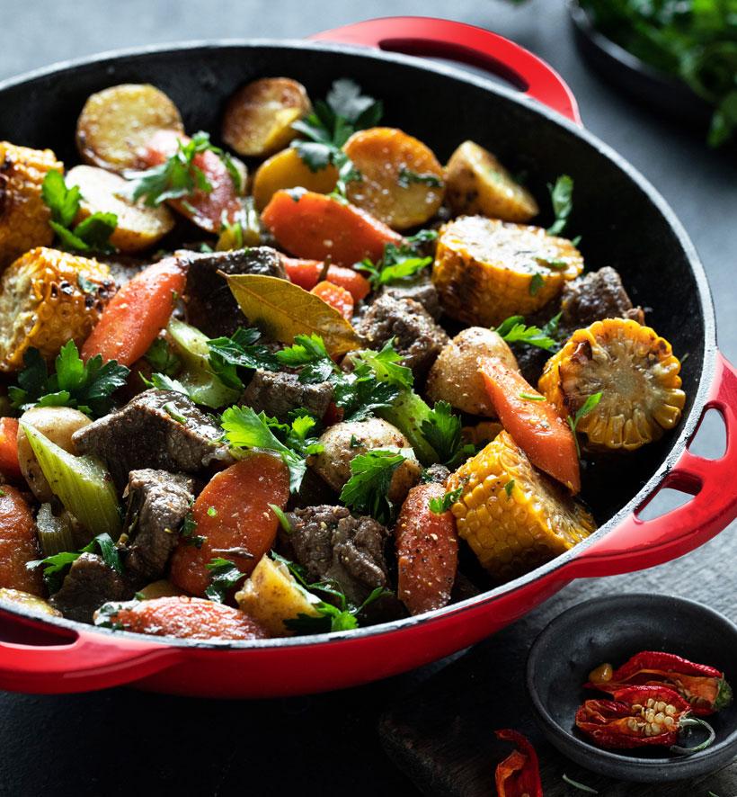Рецепт Говядины тушёной с овощами