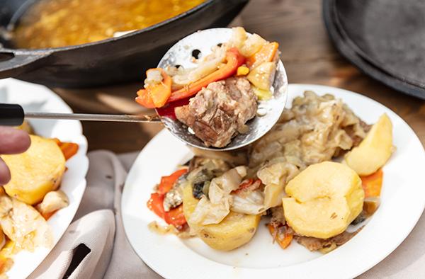 Казан-басма. Правильное мясо с овощами