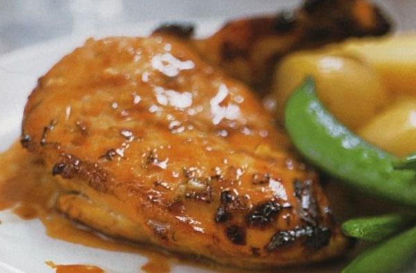 Куриное филе с медовым соусом